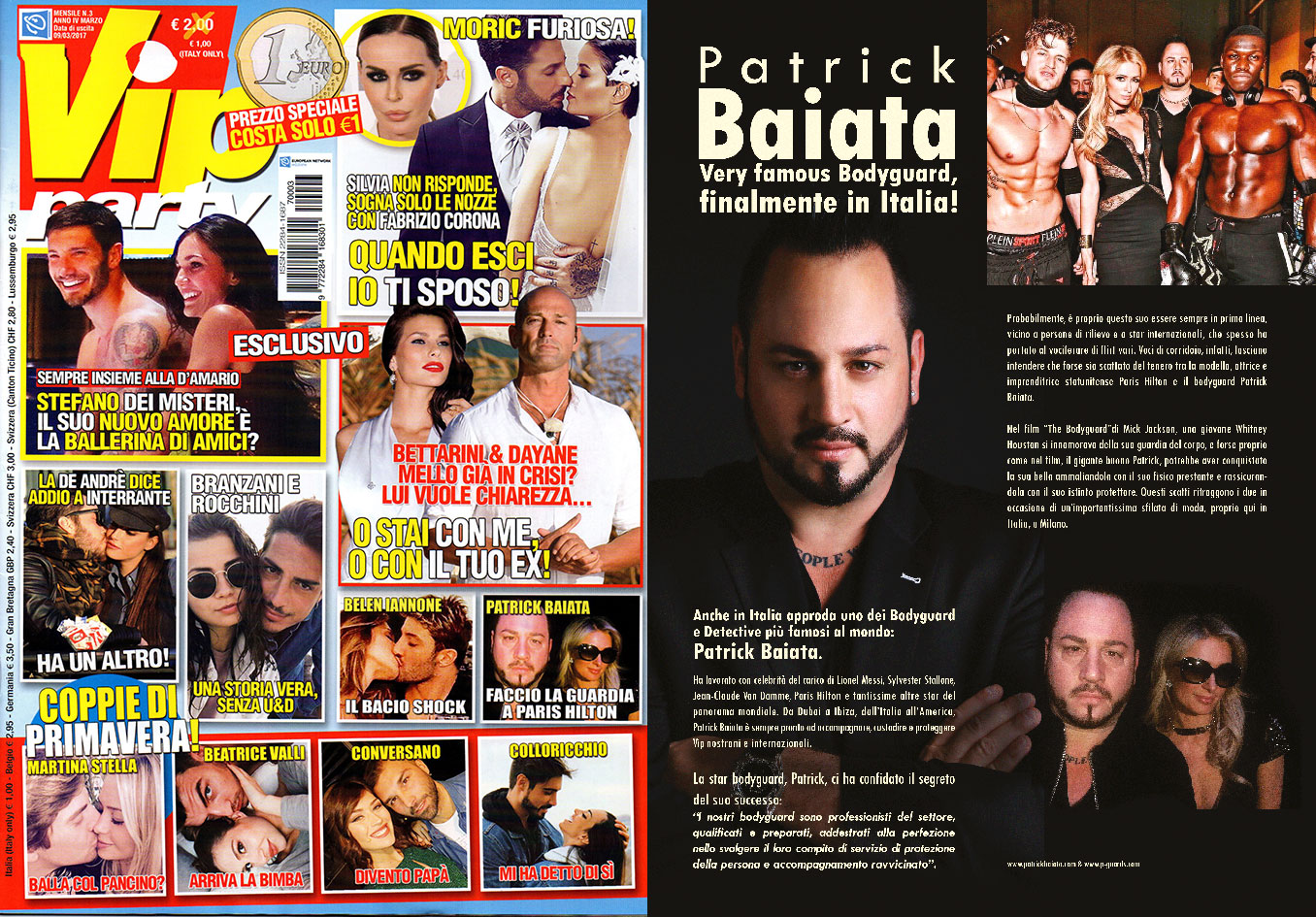 Patrick Baiata VIP Party Magazin